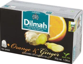 Dilmah Orange & Ginger herbata czarna z aromatem pomarańczy i imbiru