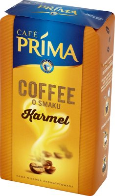 Cafe Prima kawa mielona o smaku karmelu