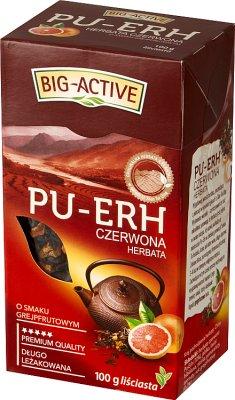 Big-Active Pu-Erh herbata czerwona liściasta Grejpfrutowa