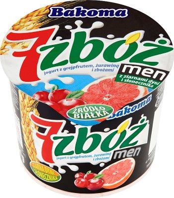 Bakoma 7 zbóż men jogurt żurawina - czerwony grejpfrut + ziarna dyni i słonecznika