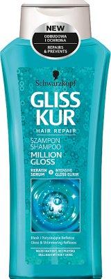 Schwarzkopf Gliss Kur Million Gloss Szampon Połysk i głęboka regeneracja włosy matowe bez połysku