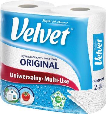 Чистый белый бумажное полотенце 2-слойные мягкой , как бархат