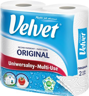 Velvet Czysta Biel ręcznik papierowy 2-warstwowy miękki jak aksamit
