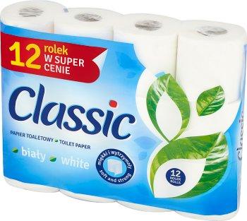 Velvet Classic klasycznie biały  z nadrukiem papier toaletowy