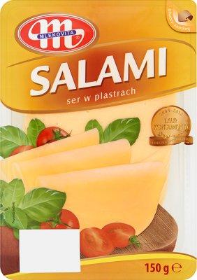 Mlekovita Salami ser żółty  w plastrach