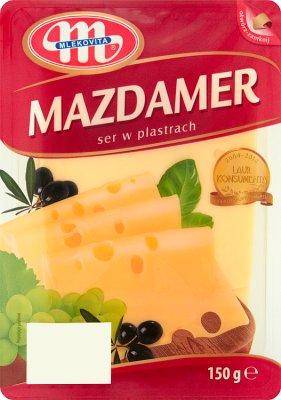 Mlekovita Ser żółty Mazdamer w plastrach