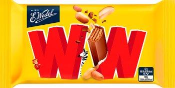 WW wafelek przekładany nadzieniem orzechowym w mlecznej czekoladzie