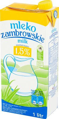 Zambrowskie mleko 1,5% tłuszczu UHT