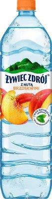 Żywiec Zdrój Smako-Łyk woda źródlana niegazowana  o smaku brzoskwini