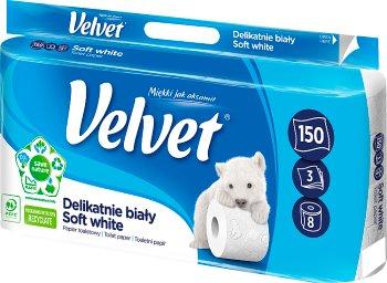 Velvet Delikatnie Biały papier toaletowy