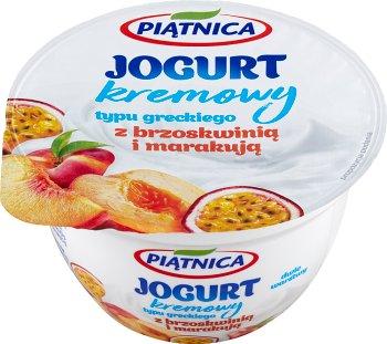 Piątnica jogurt typu greckiego z brzoskwiniami i marakują