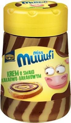 crema dúo de cacao y plátano