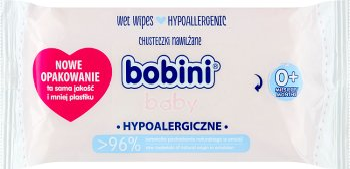 Bobini hypoalergiczne chusteczki nawilżające dla niemowląt i dzieci z mleczkiem owsianym