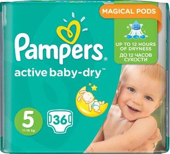 Pampers pieluchy Active Baby dry 5 junior, 11-18 kg