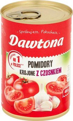 Dawtona Pomidory krojone w puszce z czosnkiem