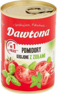 Dawtona Pomidory krojone w puszce z bazylią i oregano