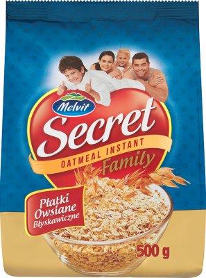 Melvit Secret family płatki owsiane błyskawiczne
