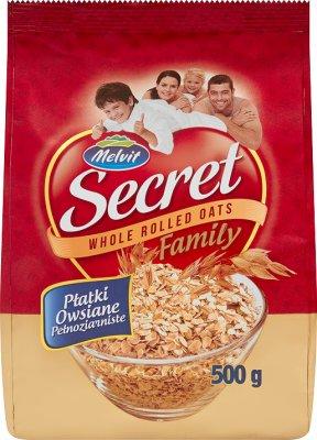 Melvit Secret family płatki owsiane pełnoziarniste