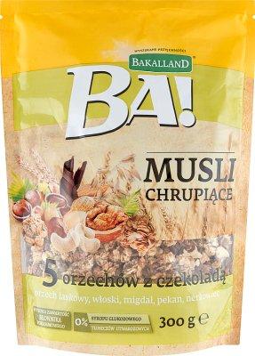 Bakalland Musli chrupiące 5 orzechów