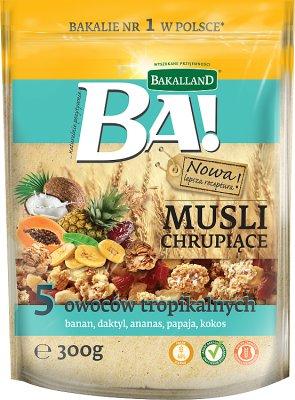 Bakalland Muesli crunchy 5 fruits tropicaux