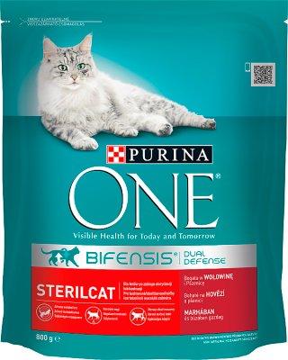 Purina Uno Sterilcat Alimento completo para gatos adultos ricos en carne de vacuno y el trigo