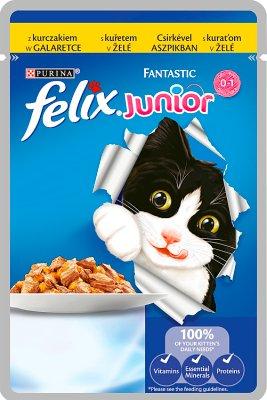 Felix Fantastic Junior z kurczakiem w galaretce Karma dla kociąt