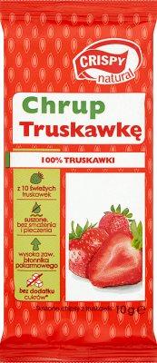 Natürliche Crispy Crispy Scheiben Erdbeeren 10 g
