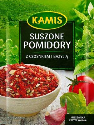 Kamis Suszone pomidory z czosnkiem i bazylią