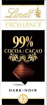 Lindt Excellence czekolada gorzka 99% kakao