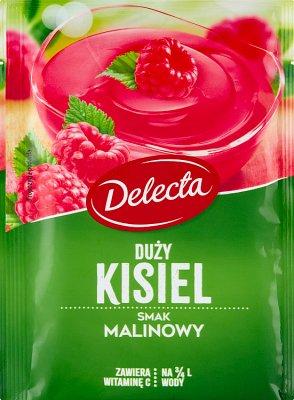 Delecta Duży kisiel smak malinowy 58 g