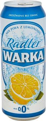 Warka Radler piwo jasne bezalkoholowe z lemoniadą cytrusową