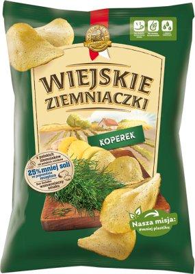 Wiejskie Ziemniaczki chipsy ziemniaczane Koperek