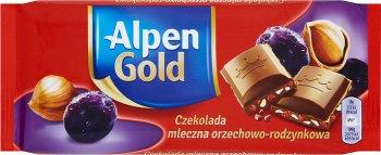 Alpen Or Chocolat au lait de noix de raisin 90 g