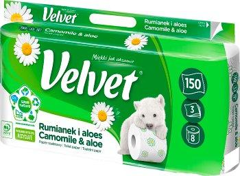 Velvet Naturalnie pielęgnujący papier toaletowy rumiankowy
