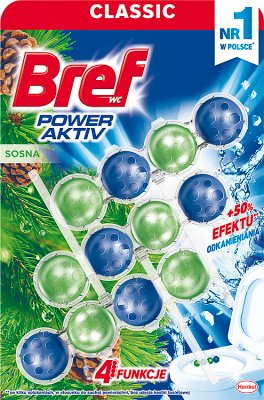 Bref Power Aktiv zawieszka do WC 4 Function formula Mega Pack Pine Freshness