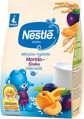 Nestle Kaszka mleczno-ryżowa Śliwka-Morela