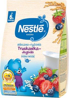 Nestle Kaszka mleczno-ryżowa Truskawka-Jagoda