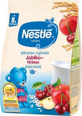 Nestle Kaszka mleczno-ryżowa Jablko-Wiśnia