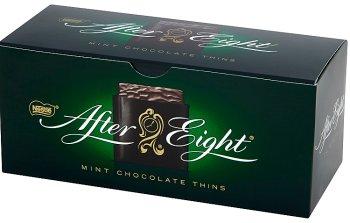 Après huit chocolats dessert, rempli à la menthe saveur 200 g