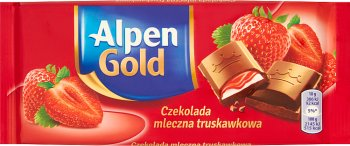 Alpen Gold молочный шоколад клубника