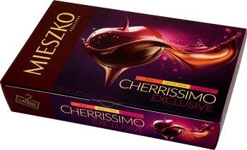Cherrissimo Mieszko шоколадные конфеты с начинкой из вишни в спирте 3 вкусов