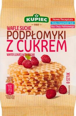 Kupiec Wafle Suche Podpłomyki z cukrem 8 sztuk