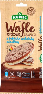 Kupiec Wafle ryżowe w czekoladzie mlecznej