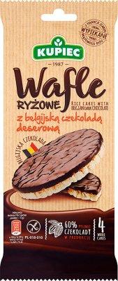 Kupiec Wafle ryżowe w czekoladzie deserowej