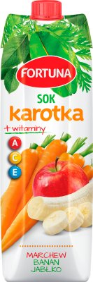 Fortuna Karotka Plus Sok marchwiowo-jabłkowo-bananowy + witaminy A, C, E