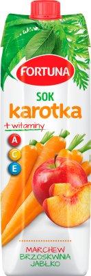 Fortuna Karotka Plus Sok jabłko marchew brzoskwinia + zielona herbata