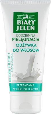 Biały Jeleń hipoalergiczny Odżywka do włosów Nawilżające kozie mleko