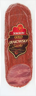 Cracow Gold Dry sausage packaged in a hermetically