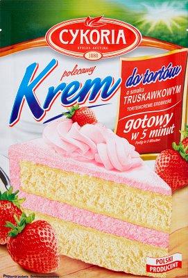 Cykoria Krem do tortów o smaku truskawkowym