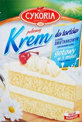 Cykoria Krem do tortów o smaku śmietankowym